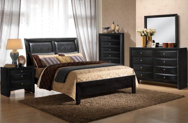 Emily black bedroom set new