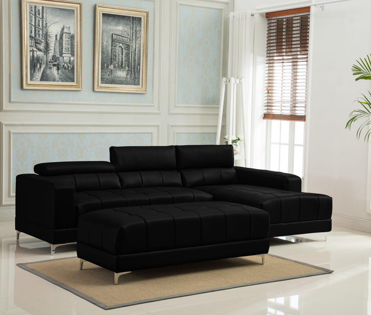 Marbella Sectional Sofa & Ottoman Set