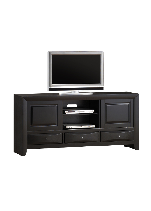 0016C TV Stand 3-Black rounded handle-2