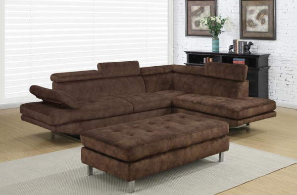 Ibiza brown bella sectional sofa set