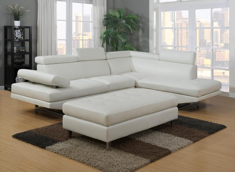 IBIZA LEATHER GEL SECTIONAL AND OTTOMAN SET | Furniture Distribution ...