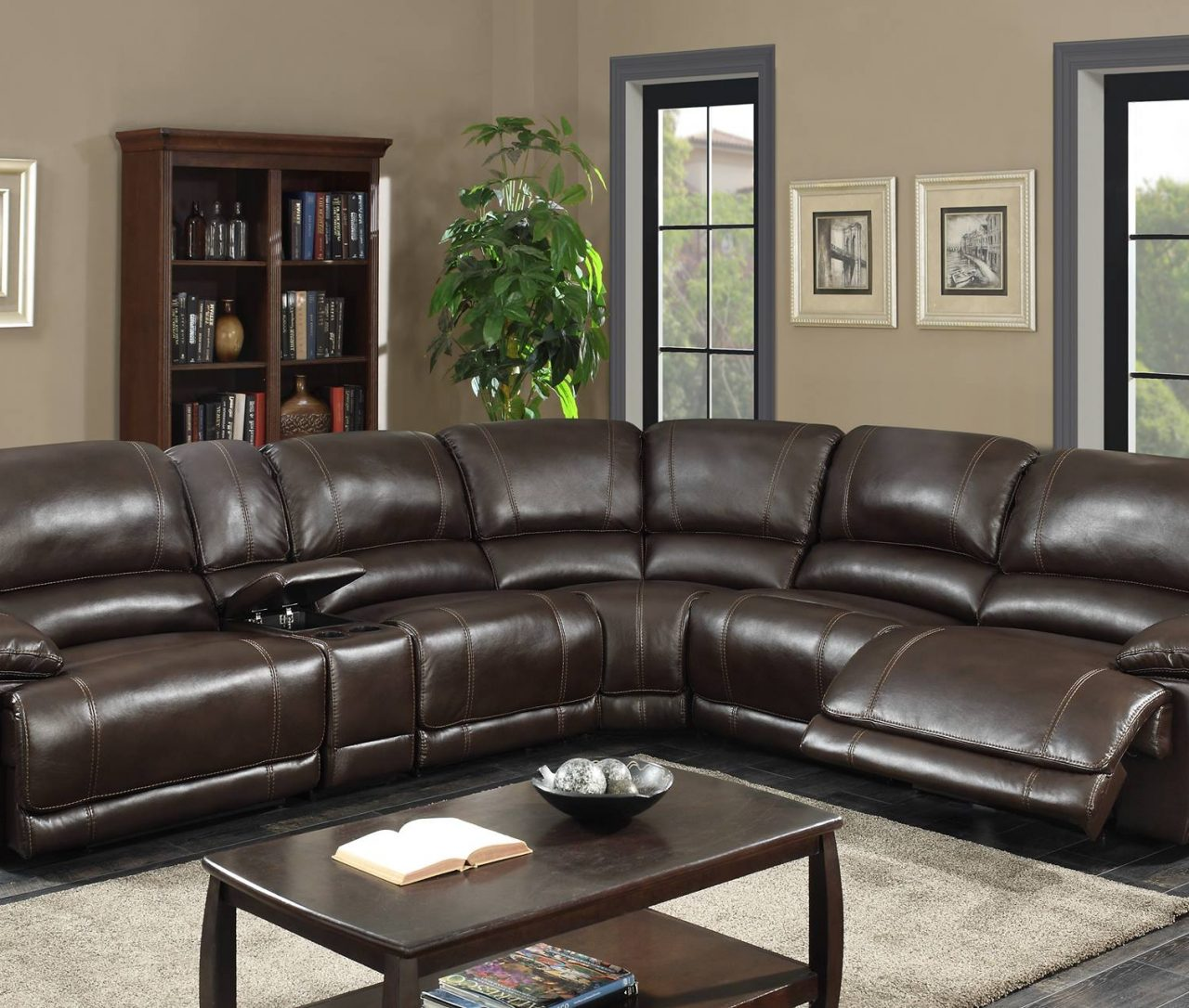 Living Room In Venice Fl: VENICE RECLINING SECTIONAL SOFA (NEW)