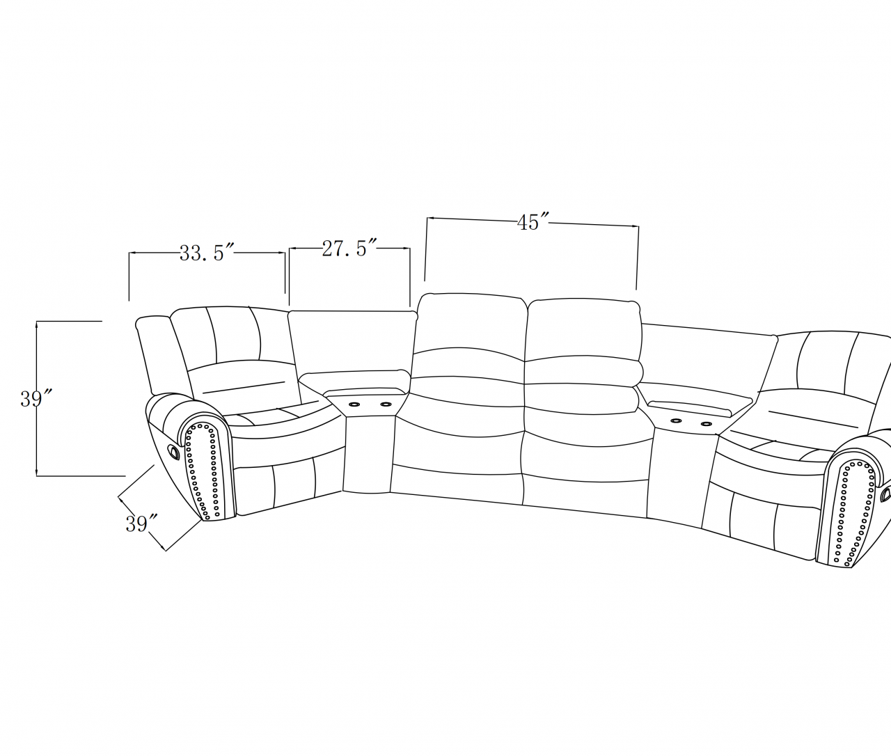 Florence Home Theater Motion Sectional New Furniture