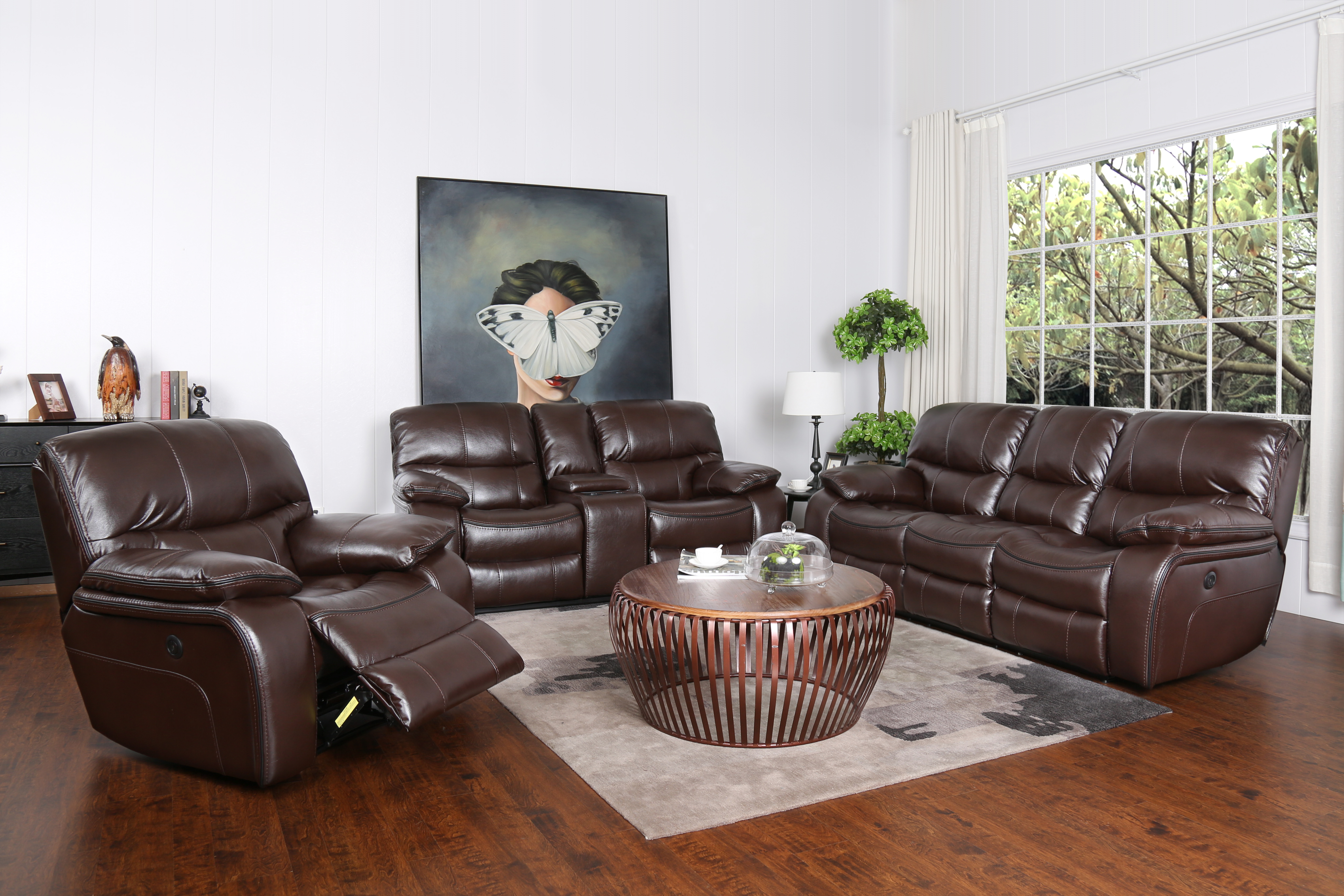 Madrid power reclining sofa loveseat set furniture for Factory sofas madrid